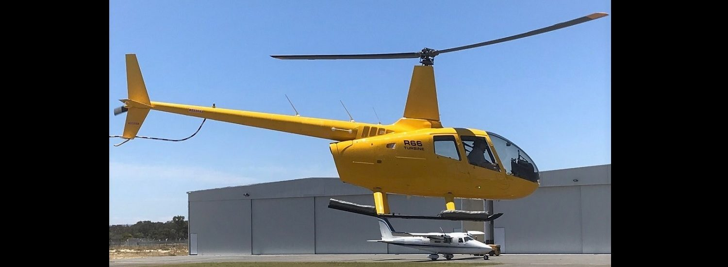 R66 All Yellow 1500 x 550 | Leaders in Helicopter Sales and Service - Heliflite
