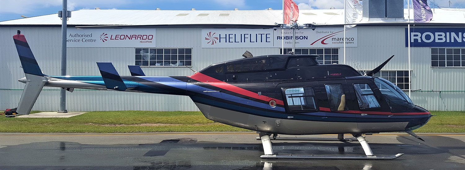 bell-longranger-blk-w-grey | Leaders in Helicopter Sales and Service - Heliflite